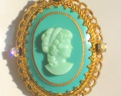 HOLD  for  anniebatesdesigns  -   Cameo Brooch