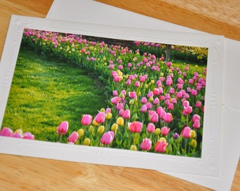Photo Greeting Card - Tulip Fields