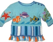Children Sweater - SCUBADIVE - Unisex Children Sweater/ wool sweater, Kid Sweater/ Toddler Sweater, 2 to 4 years by Solandia