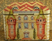 French Chateau Tin Collectible Box