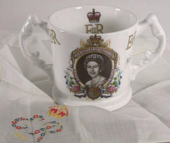 Vintage Queen Elizabeth II Silver Jubilee 1952-1977 Royalty Commemorative Mug
