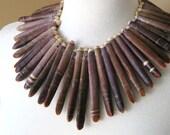 Sea Urchin Spine Necklace.