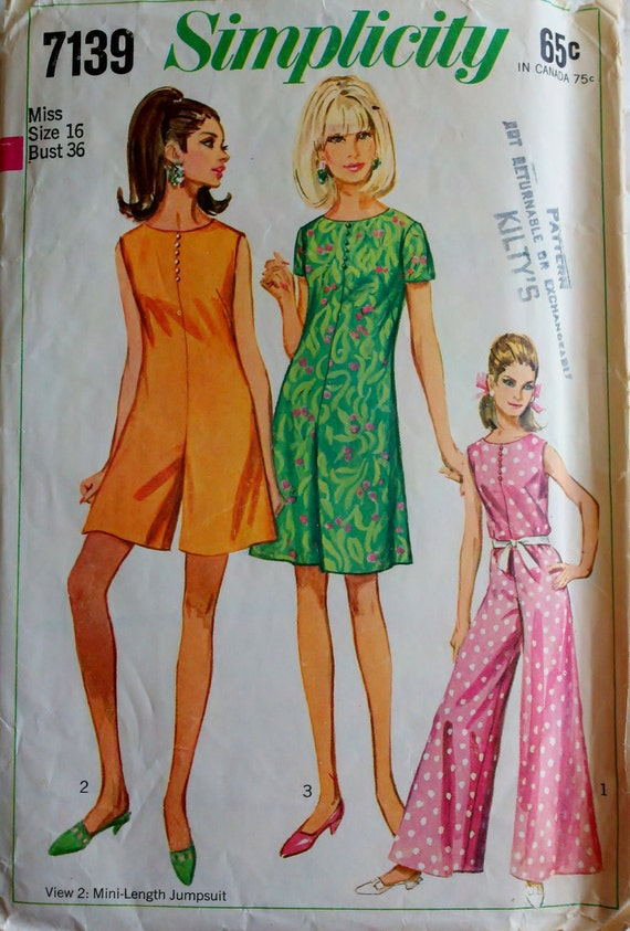 Cool Butterick 5729 Womens Jumpsuit Sewing Pattern By Denisecraft