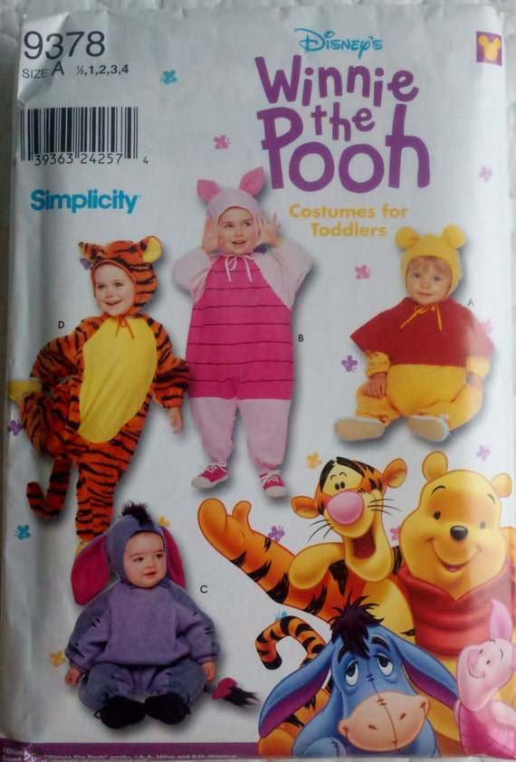 """Sewing Pattern Winnie the Pooh Costumes for Toddlers - Size 1-4 Chest 19-23"""""""