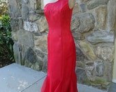 Hunger Games Katniss red gown Girl on Fire shimmering satin sequins and sheer organdy size 6-8 Celebration SALE