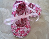 Pink Floral Ballet Slipper Baby Bootie