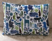 2D Zoo Toddler or Travel Size Pillowcase