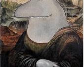 Morralisa mumin/Da Vinci patische  27 x 35 cm, unframed