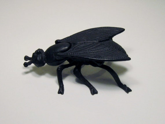 Vintage Insect, Cast Iron Fly Ashtray, Weird Science or Naturalist Oddity