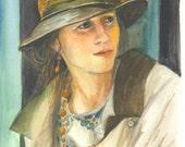 Nicole - original gouache painting