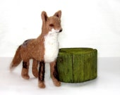Red Fox Felt Kit - Complete with Alpaca Fiber, Felting Needles, Foam, Detailed Photo Instructions