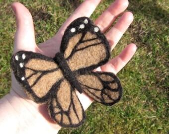 Butterfly Felt Kit Custom - Complete with Alpaca Fiber (Choose Colors), Felting Needles, Foam, Detailed Photo Instructions