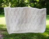 White Diamond Baby Blanket