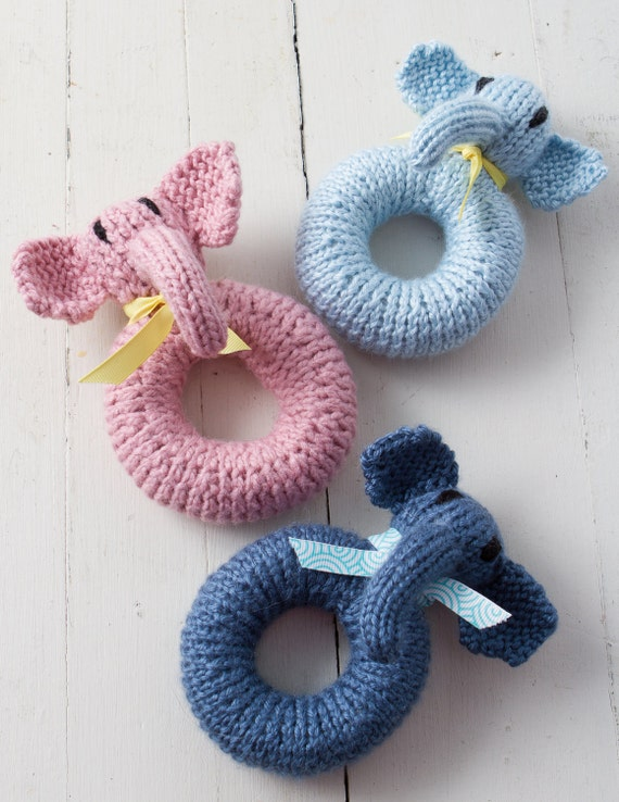 Elephant Baby Rattle - infant, toy, unique, ooak, baby gifts, boutique style