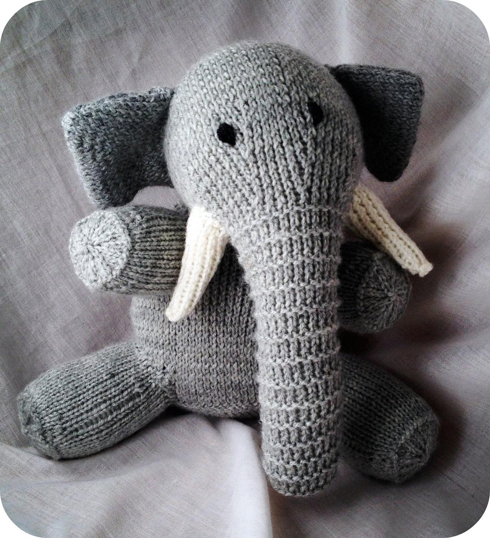 Elephant Stuffed Toy : Stuffed elephant grey kids toy
