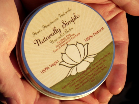 Paraben Free Vegan Skin Softening and Protecting Balm. Carnauba, Soy, Candelilla and Shea Butter. Unscented
