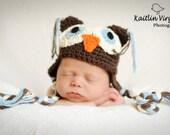 Crochet Baby Hats, Owl Hats, Baby Hats, Newborn Hats, Newborn, Photography Props, Crochet Owl Hats, Photo Props, Boys Hats, GIrls Hats