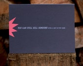 Shot in the Dark - Good Luck Card with Free US Shipping