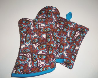 Butterfly Oven Mitt and Pot Holder