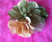 Fascinator Comb- Green and Gold