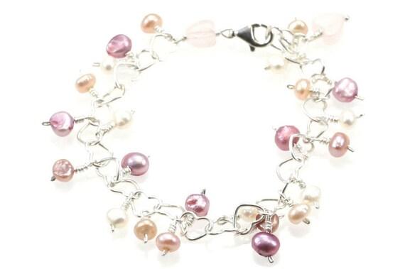 Girl's Freshwater Pearl Charm Bracelet