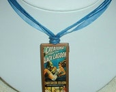 Reversible Vintage Horror Movie Poster Necklace-Creature From the Black Lagoon and Terror Mondo