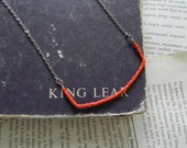 Rhea - Red Orange geometric Chain Necklace