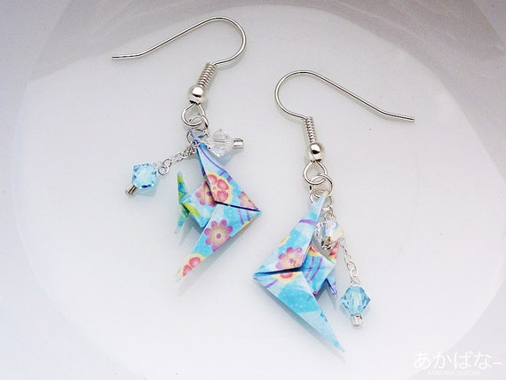 Japanese Origami Tropical Fish Earrings