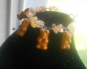 Golden Candy Gummy Bear Bracelet