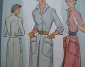 Fabulous Vintage 40's McCall Misses Sewing Pattern CHIC SHIRTWAIST DRESS