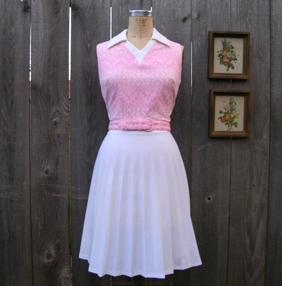 Vintage 70's SUGAR AND SPICE Sleeveless Day Dress