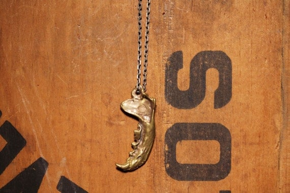 Mink Jaw necklace for men or women.