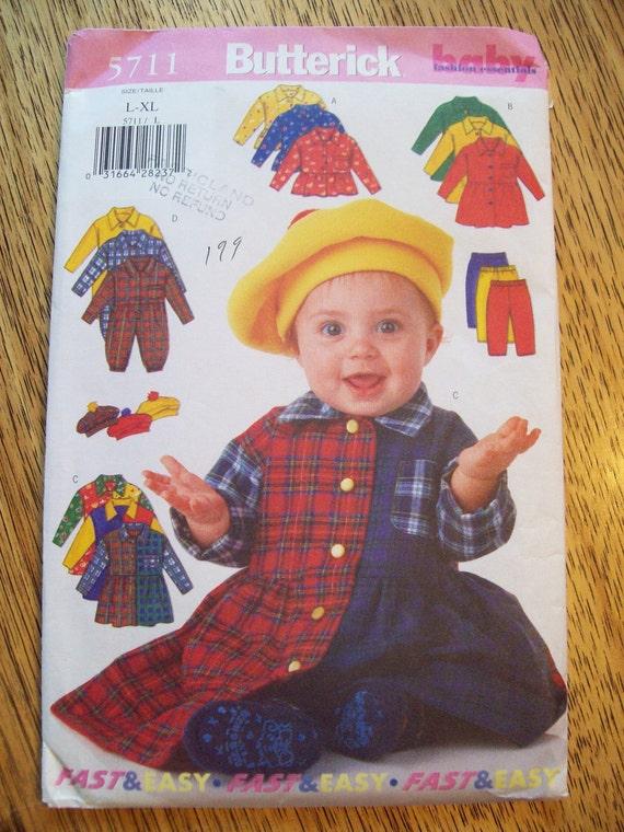 UNCUT Sewing Pattern - Cute Dress, Jumper, Leggings and Beret - Size L - XL - Butterick 5711