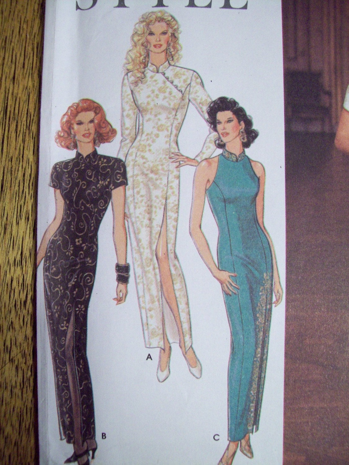 Uncut Sewing Pattern Fitted Mandarin Collared Chinese Long