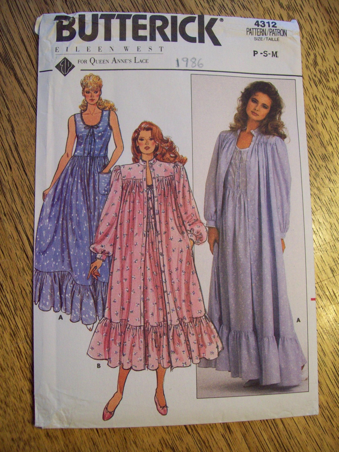 Sewing Pattern Vintage 1960s Sexy Neo Victorian Nightgown