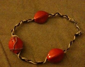 a leather braided bracelet