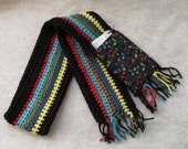 Music Scarves: Crochet Colorful Striped Music Notes or Brown with Instruments