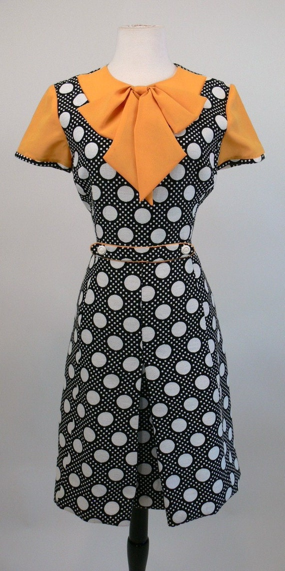 1960's Lilli Ann Polka Dot Dress and Coat Set