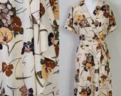 sale--1970's tuscan summer wine party dress