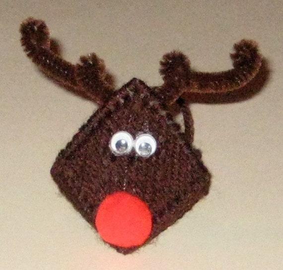 Shoprite Christmas Lights: Items Similar To Reindeer Plastic Canvas Kissing Ornament