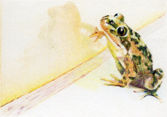 Original ACEO for WaterAid - Day 19: Hello, Gorgeous