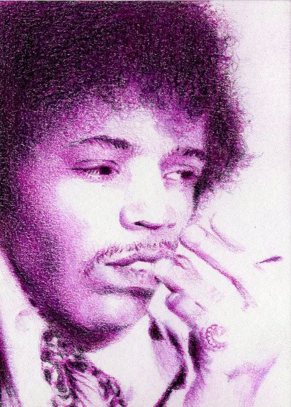 Original ACEO for the Community Music Institute - Day 10: Purple Haze.