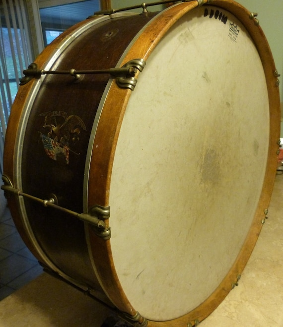 Vintage 1940 S Slingerland Bass Drum With America Decal