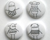 Pin Button Badge Set of Four - 'Vest Friends' Perfect Gift for your Best Friend