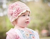 Girls Hat, Cameo Flower Beanie, toddler, baby, girl