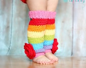 Baby Girls Leg Warmers, Rainbow Legwarmers, Leggings