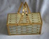 Vintage metal box purse Majestik 1950s/1960s vintage pocketbook mid century glamour with original paper ad