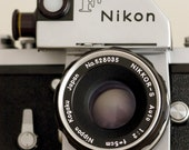 Vintage Nikon camera rare 35mm film camera Nikon Photomic F, early 1960s camera