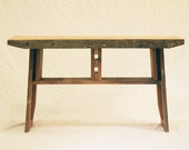 island barn bench - reclaimed, elemental modern - old growth, arts and crafts