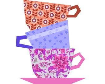 Tea Pot quilt block paper pieced quilt pattern PDF pattern : free paper piecing quilt patterns download - Adamdwight.com